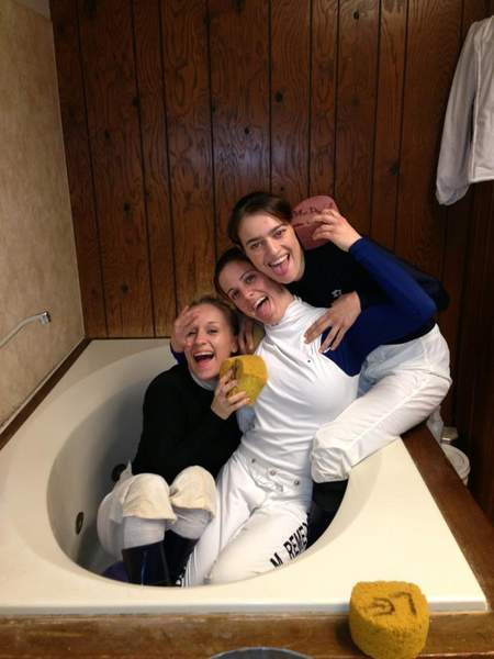 Maria with jockeys Shannon Uske and Jessica Rice