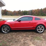 Red Shelby Mustang