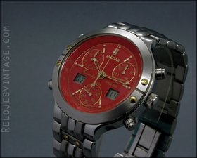 jaguar friendship ana-digi chronograph alarm vintage watch nos new