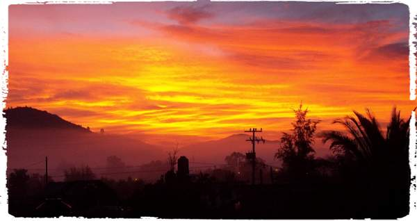 Sunrise from terraza
