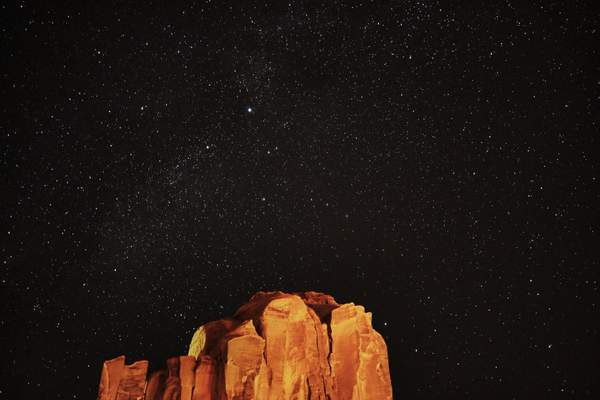 The Night Sky Above Monument Valley