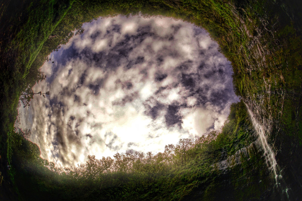 Waimoku Falls - A Fisheye View of Paradise