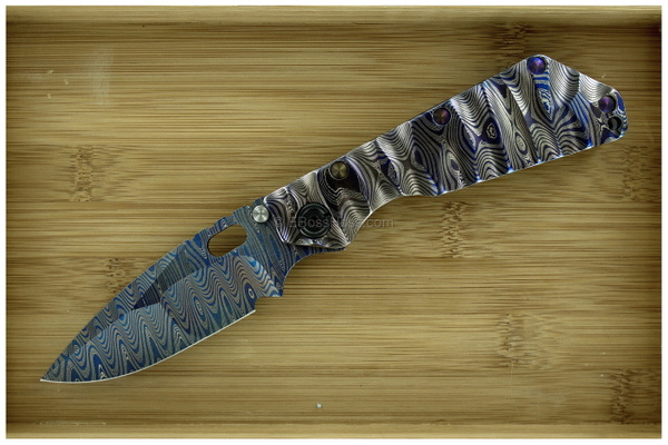 Mick Strider Custom Cobalt Damascus Nightmare SMF by...