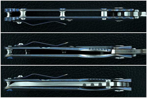 Mick Strider - Jeremy Horton Recurve Chisel-ground Titanium-bladed Tanto SMF Collab by EBossHoss