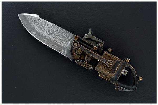 Stefan Steigerwald Steampunk Folder Knife by EBossHoss
