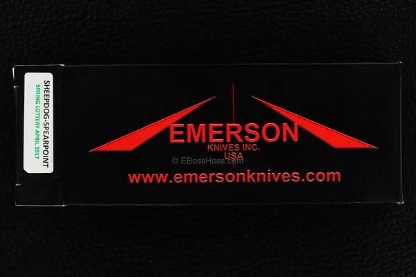 Ernie Emerson Custom Bolstered Sheepdog Spearpoint FLIPPER by EBossHoss