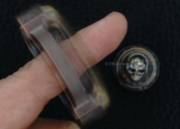 Steel Flame Custom 3-D Skulls Copper Ring Spin -- 3-D Slug -- #2 by EBossHoss