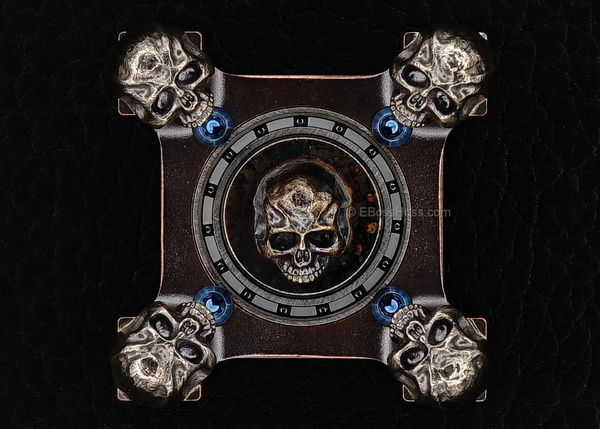 Steel Flame Custom 3-D Skulls Copper Ring Spin - 3-D...