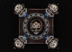 Steel Flame Custom 3-D Skulls Copper Ring Spin - 3-D Slug