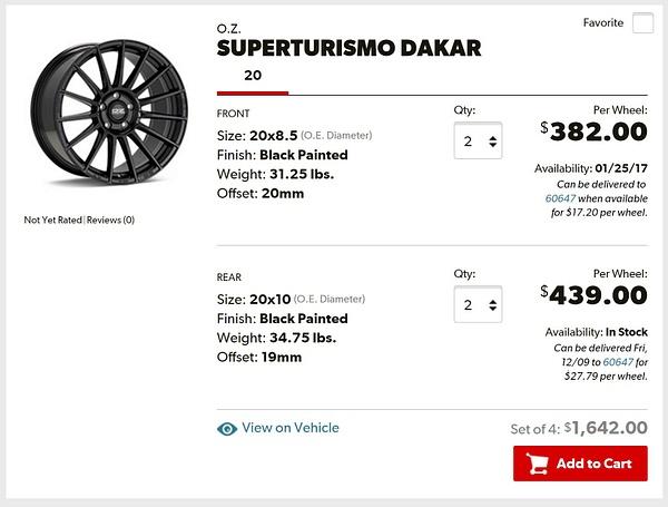 Porsche Macan OZ Superturismo Dakar Matte Black Painted...
