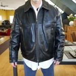Aero Leather Company Black Horsehide Highwayman Boolegger MC Jacket