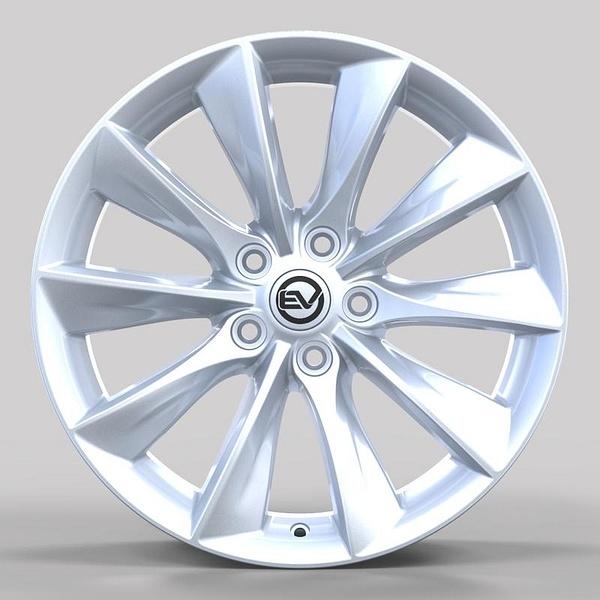EV Wheels Direct 18' Turbine in Bright Silver for Tesla...