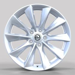 "EV Wheels Direct 18"" Turbine in Bright Silver for Tesla Model 3"