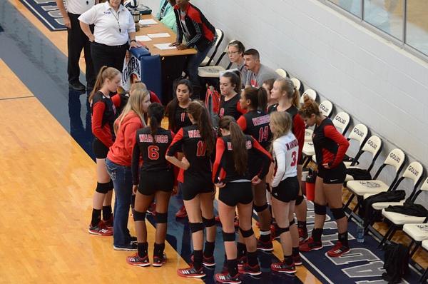 Warrior Volleyball vs Goliad 08-15-17 by DennisRedding...