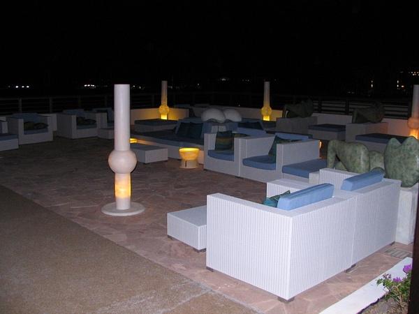 Lobby area at night by Aannabandana