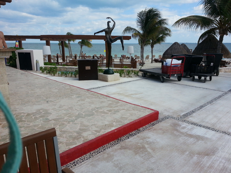 This is at Excellence Playa Mujeres showing elevated steps