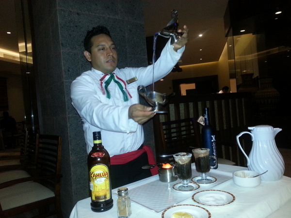 Ivan was the best waiter and made excellent Mayan Coffee by Aannabandana