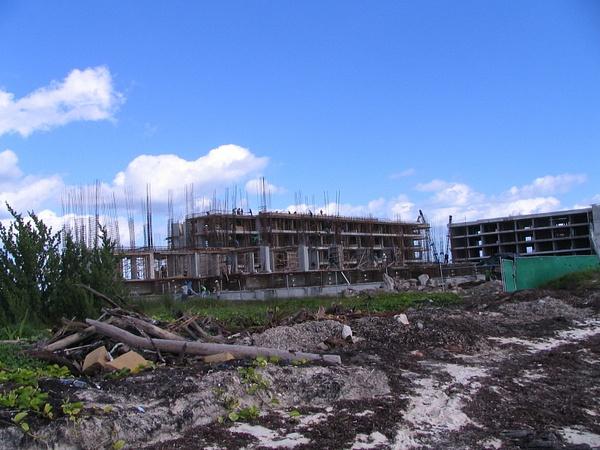 New construction up the beach by Aannabandana