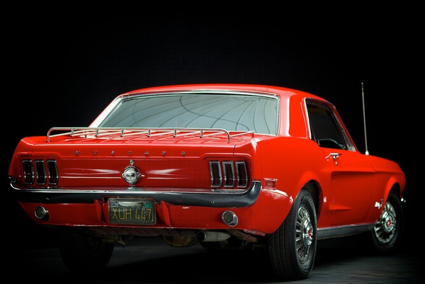 1968 ford mustang red by MattCrandall