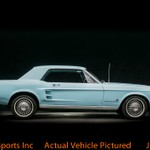 1967 Ford Mustang hardtop blue