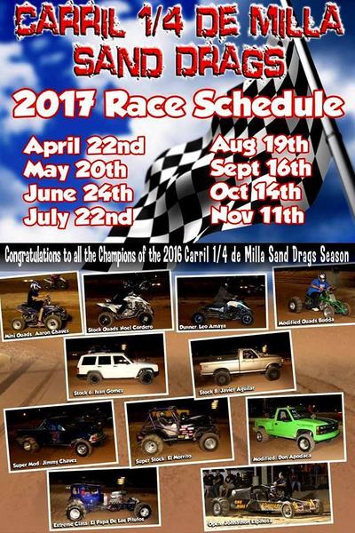 Sand Drags Schedule