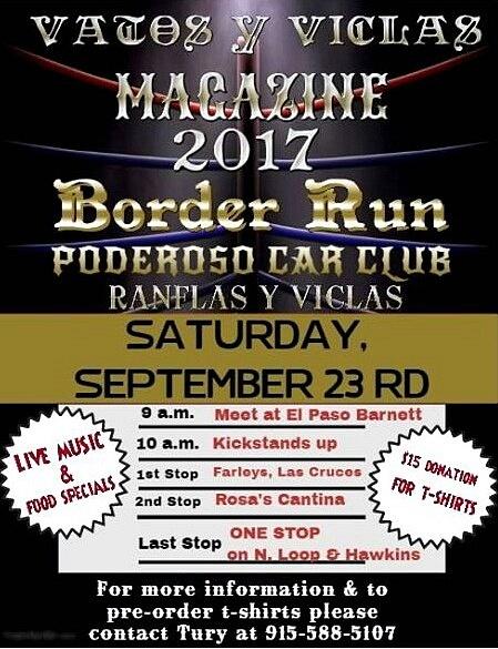 Sat. Sept. 23 / Border Run