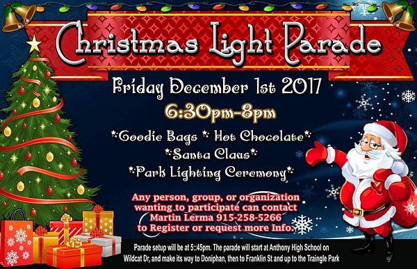 Fri. Dec. 1 / EPT X-mas Lights Parade