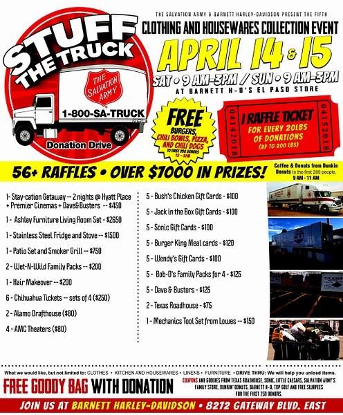 APRIL 14 - 5 / DONATION DRIVE
