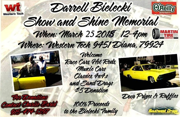 MARCH 25 / SHOW N SHINE DONATION