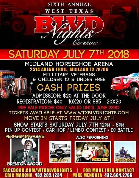 SAT. JULY 7 / MIDLAND, TX.