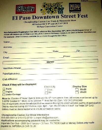 STREET FEST REGIS. FORM