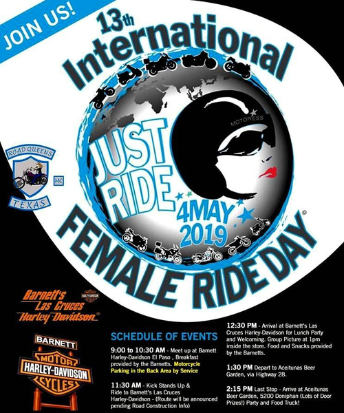 SAT. MAY 4 / FEMALE RIDE DAY