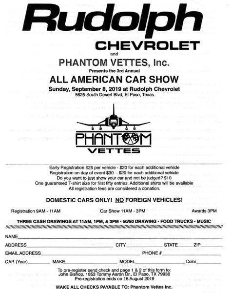 SEPT. 8 / ALL AMERICAN CAR SHOW