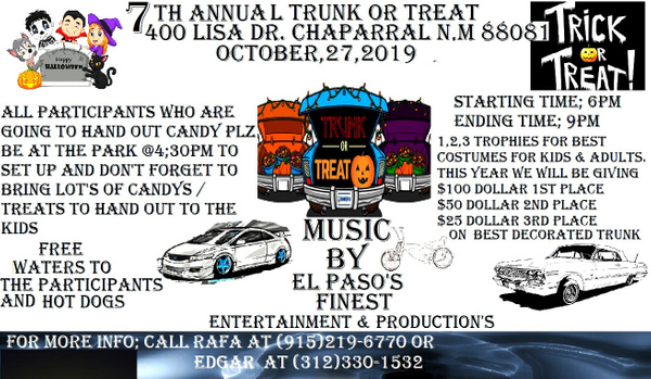 OCT. 27 / TRUNK OR TREAT