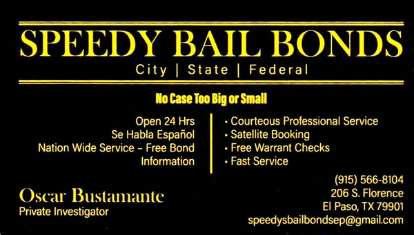 SPEEDY BAIL BONDS - EPT