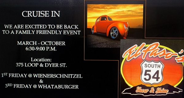 1ST & 3RD FRIDAY OF MONTH / CRUISE IN