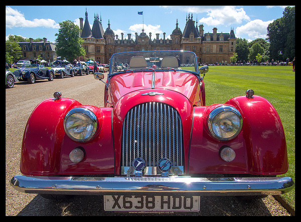 Old car show at Waddesdon Manor by JenaAlbazi