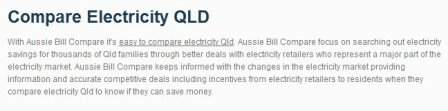 Compare Electricity QLD