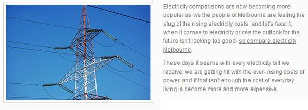 Compare Electricity Prices Victoria