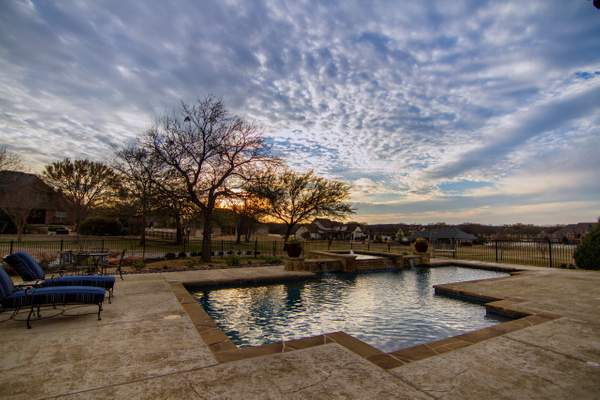 Spring sunset in Texas
