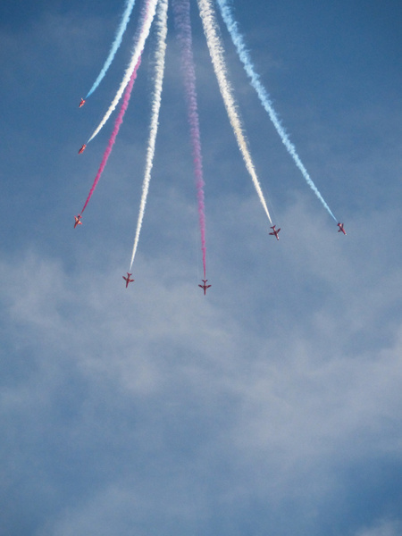 Red Arrows 3 by James Borland