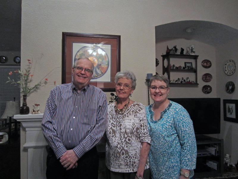 Our Aunt Jayne, her son Lewis and his wife Toy, in Grand Prairie.