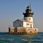 Detroit Channel Light in Lake Erie, Michigan