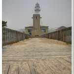 Whitefish Point Lighthouse in the Fog