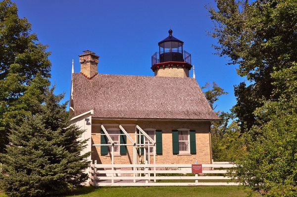 Old Mcgulpin Point Lighthouse - Northern Michigan by...