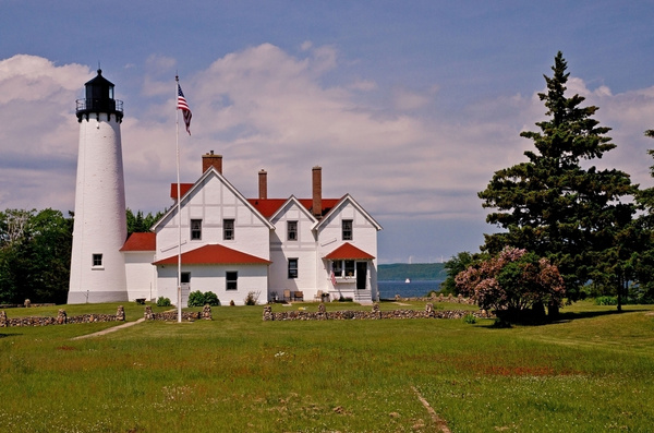 Point Iroquois Lighthouse - UP - Lake Superior by...