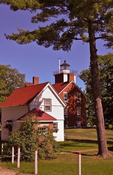 40-Mile Point Lighthouse on Lake Huron by SDNowakowski
