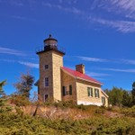 Copper Harbor Lighthouse on Lake Superior in the Upper Peninsula of Michigan taken in 2010
