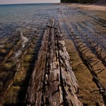 Sunken Ship off Ausable Point in Lake Superior