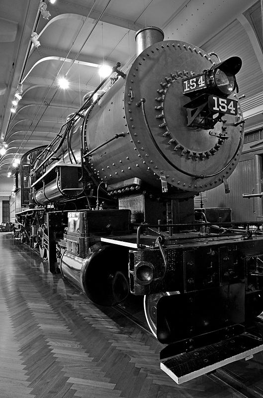 Henry Ford Museum-BL&E 2-8-0 #154 Steam Locomotive-2013-Fastone